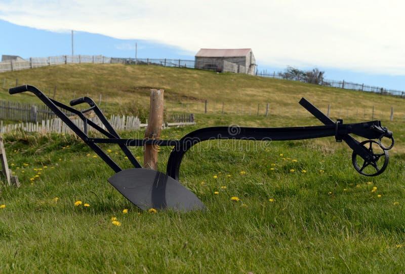 Der Pflug auf dem Bauernhof Harberton stockfoto