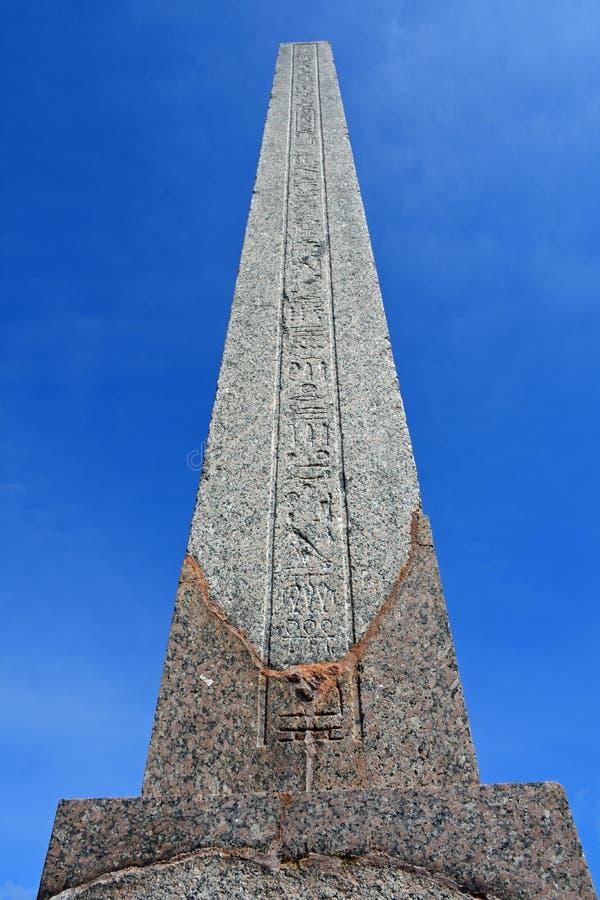 Der Philae-Obelisk, Kingston Lacy, Wimborne-Münster, Dorset, England lizenzfreies stockbild