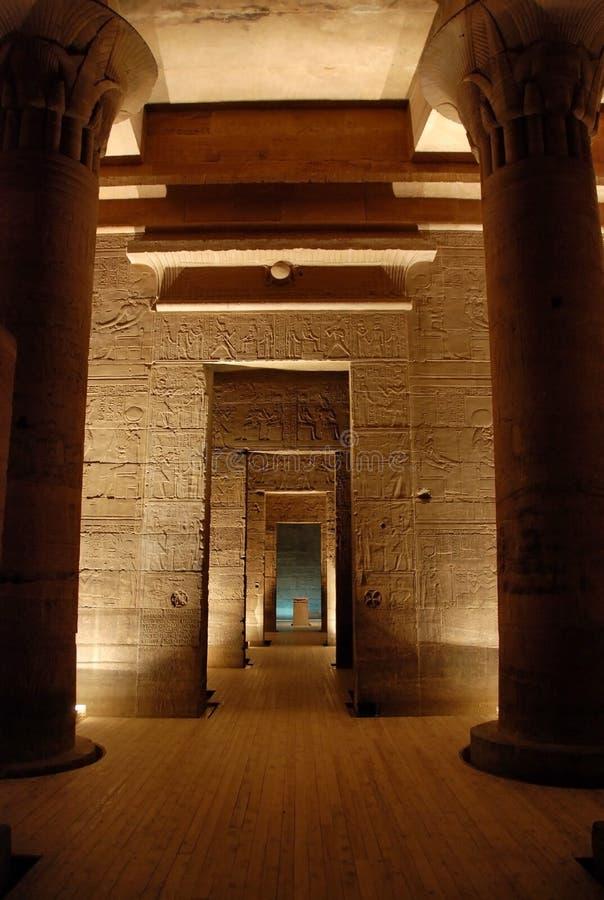 Der Philae Tempel, Ägypten stockfotos