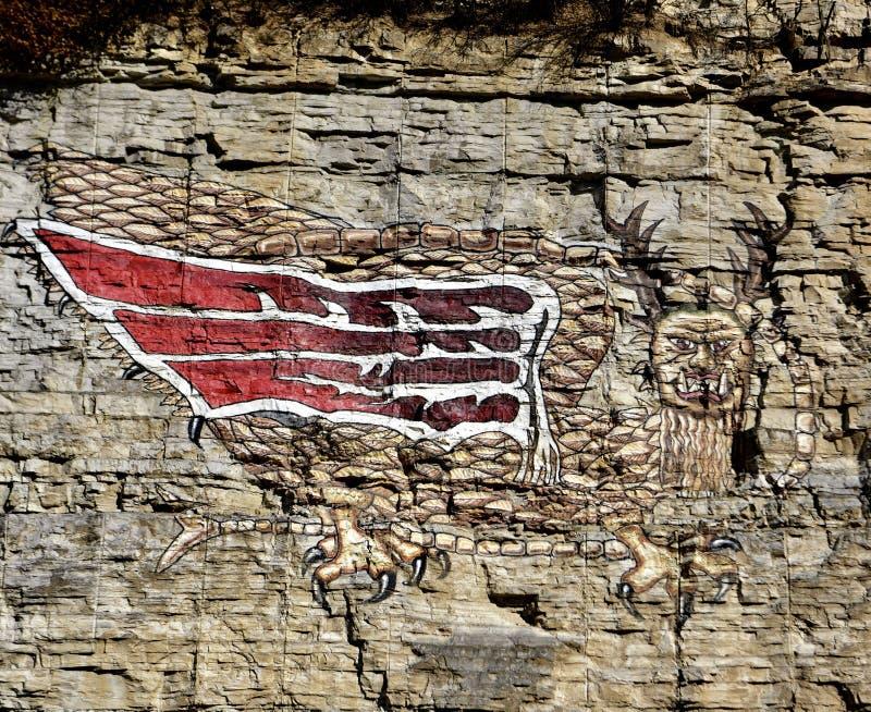 Der Piasa-Vogel lizenzfreie stockfotografie