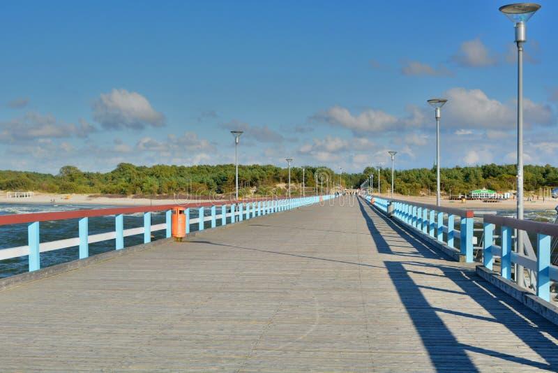 Der Pier Palanga litauen lizenzfreies stockbild
