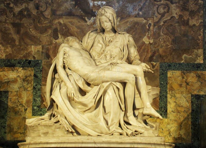Der Pieta durch Michaelangelo lizenzfreies stockbild