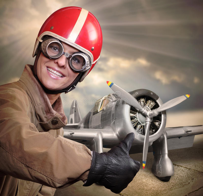 Der Pilot lizenzfreie stockfotos