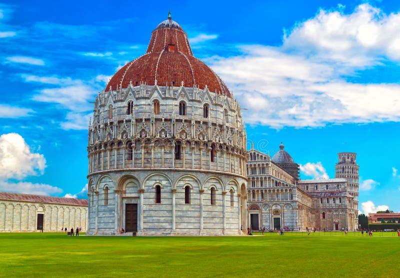 Der Pisa-Baptistery von St. John Battistero di San Giovanni Pisa herein, Toskana, Italien stockfotos