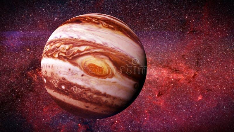 Der Planet Jupiter und die Sterne der Galaxie vektor abbildung
