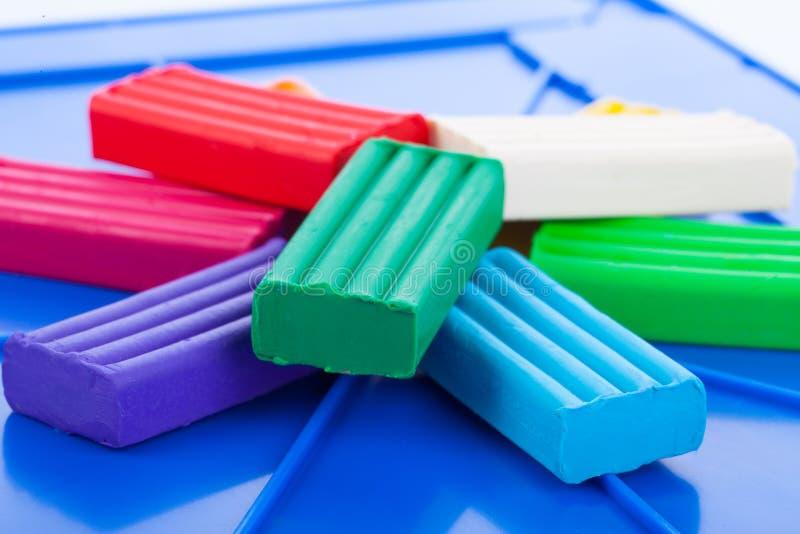 Der Plasticine der Farbkinder stockfotografie