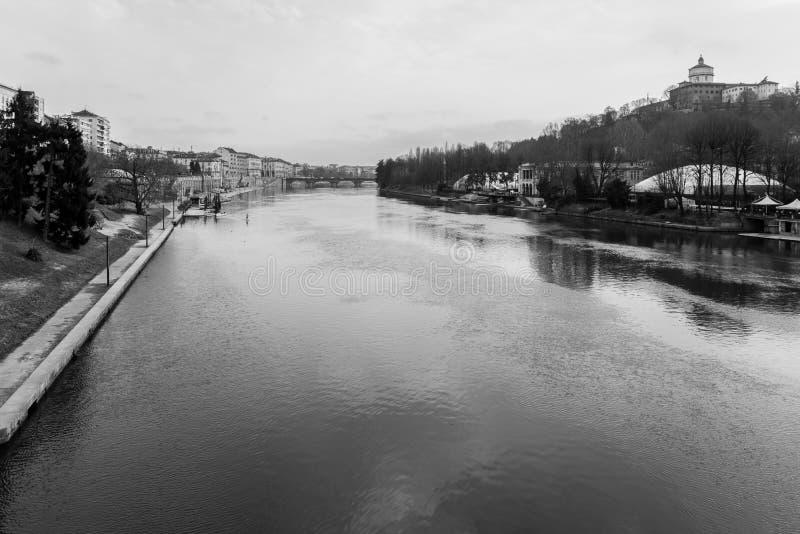 Der Po in Turin, Italien lizenzfreies stockbild