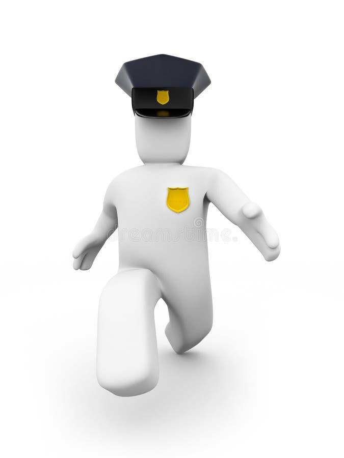 Der Polizist läuft lizenzfreie abbildung