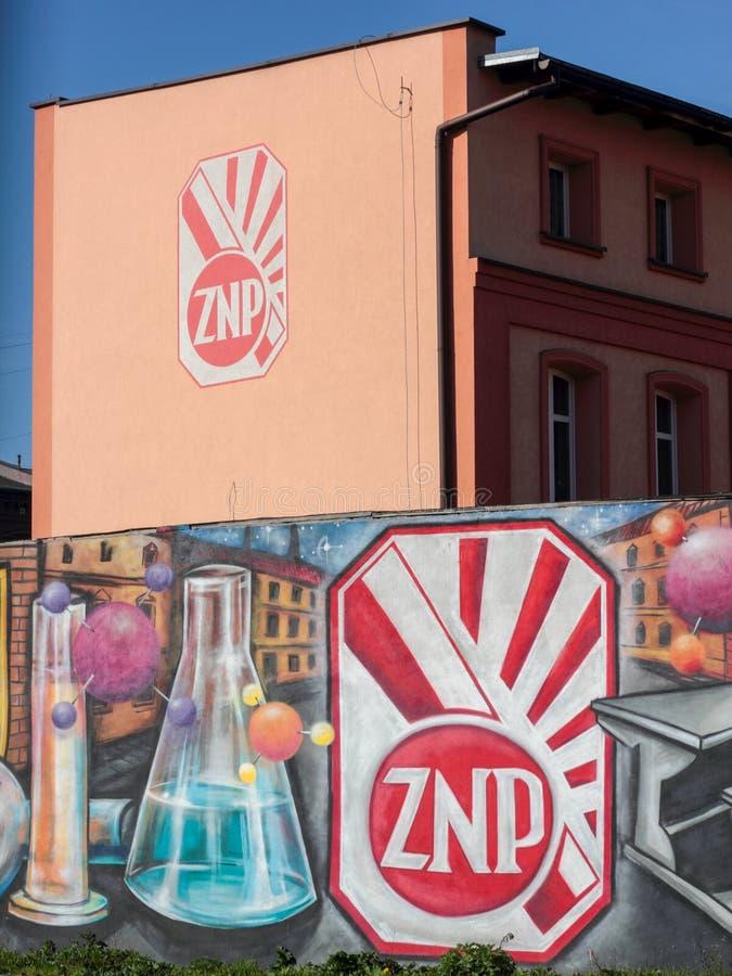 Der polnische Verband der Lehrer Zwiazek Nauczycielstwa Polskiego lizenzfreie stockbilder