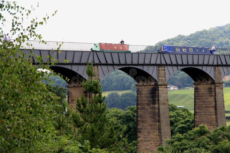 Der Pontcysyllte Aquädukt stockfotografie