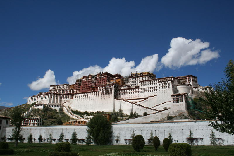 Der Potala Palast stockfotos
