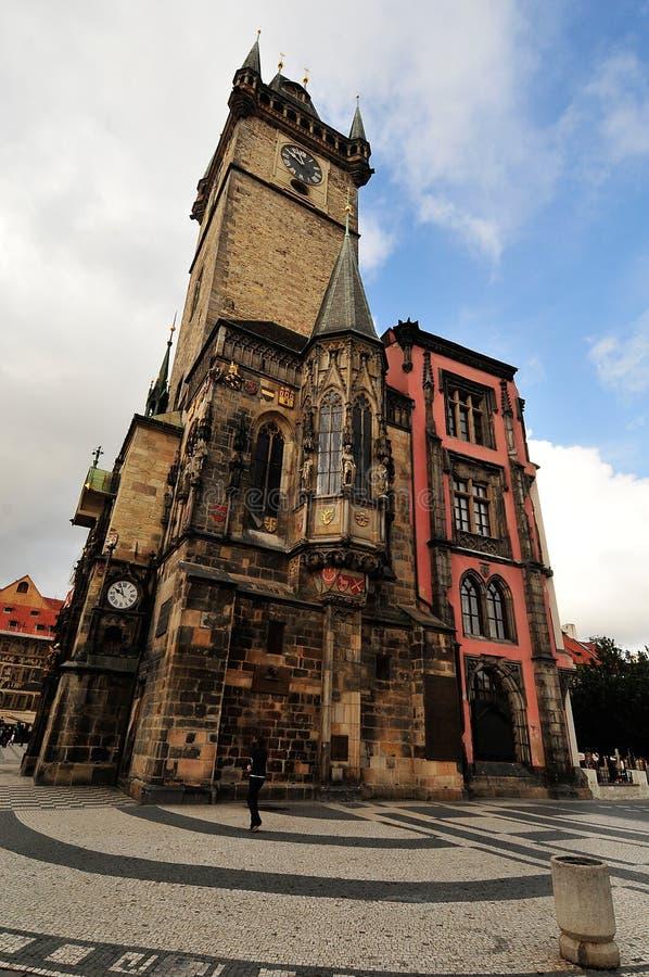 Der Prag-astronomische Glockenturm stockfotos
