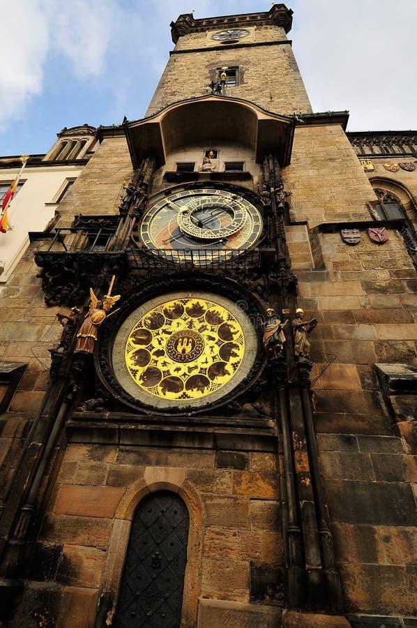 Der Prag-astronomische Glockenturm lizenzfreies stockfoto