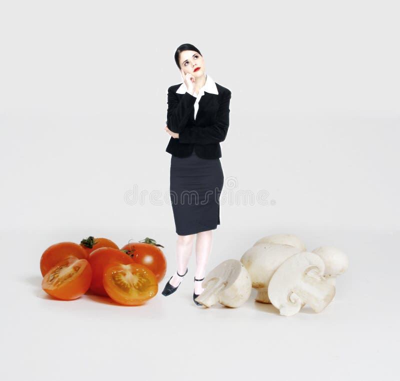 Der Preis auf Gemüse   lizenzfreie stockbilder