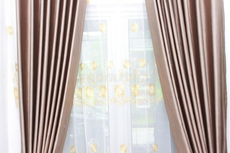 Der purpurrote Vorhang stockfotografie