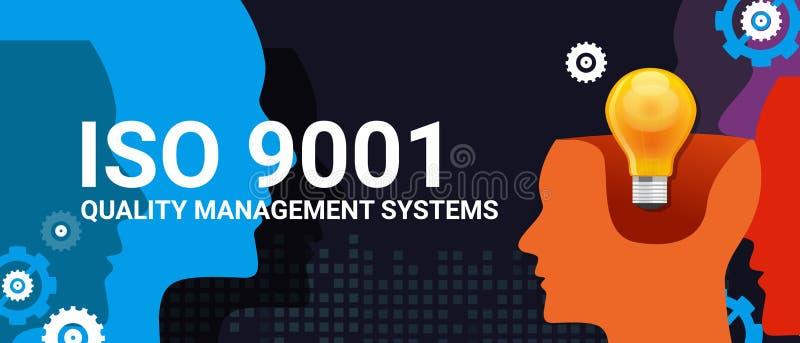 Der Qualitätssicherungssystem-Bescheinigung ISO 9001 Befolgungsaufgaben-Check-Listen-Standardziel internationales stock abbildung