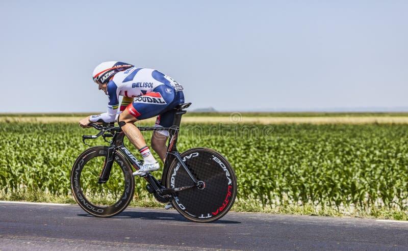 Der Radfahrer Adam Hansen Redaktionelles Stockbild