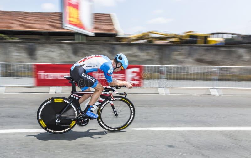 Der Radfahrer Alex Howes lizenzfreie stockfotografie