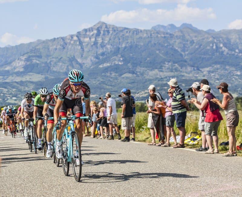 Der Radfahrer Andy Schleck stockbilder