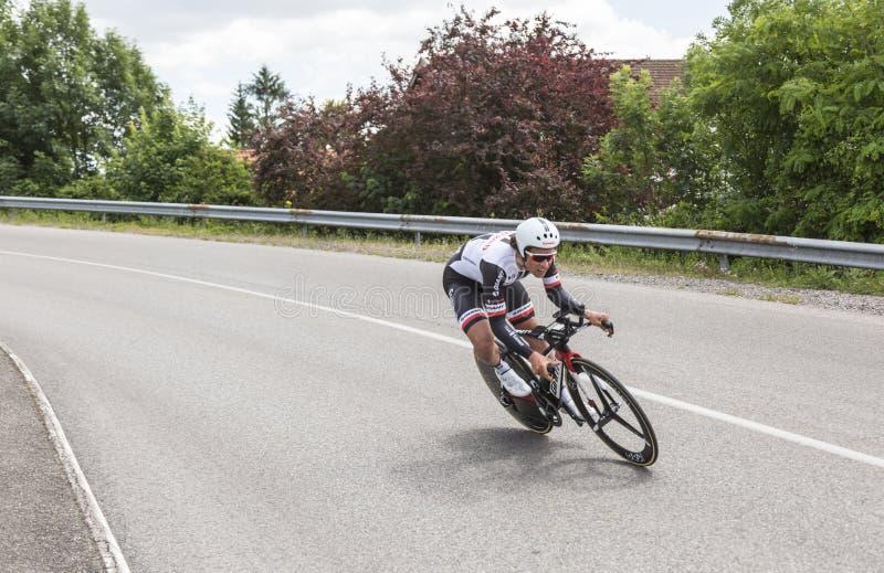 Der Radfahrer Bert De Backer - Criterium du Dauphine 2017 stockfoto