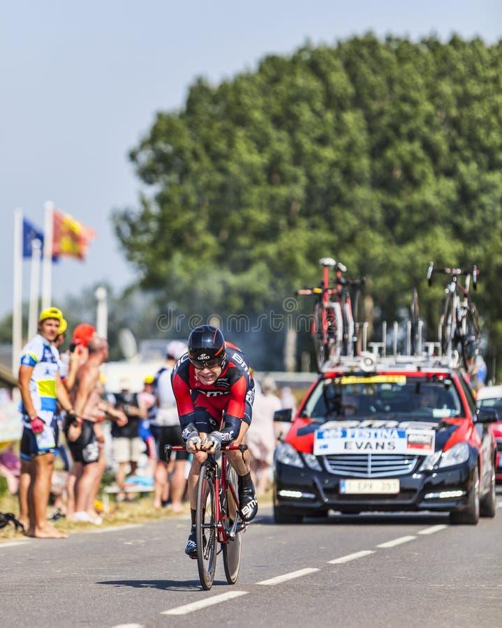 Der Radfahrer Cadel Evans stockfotos