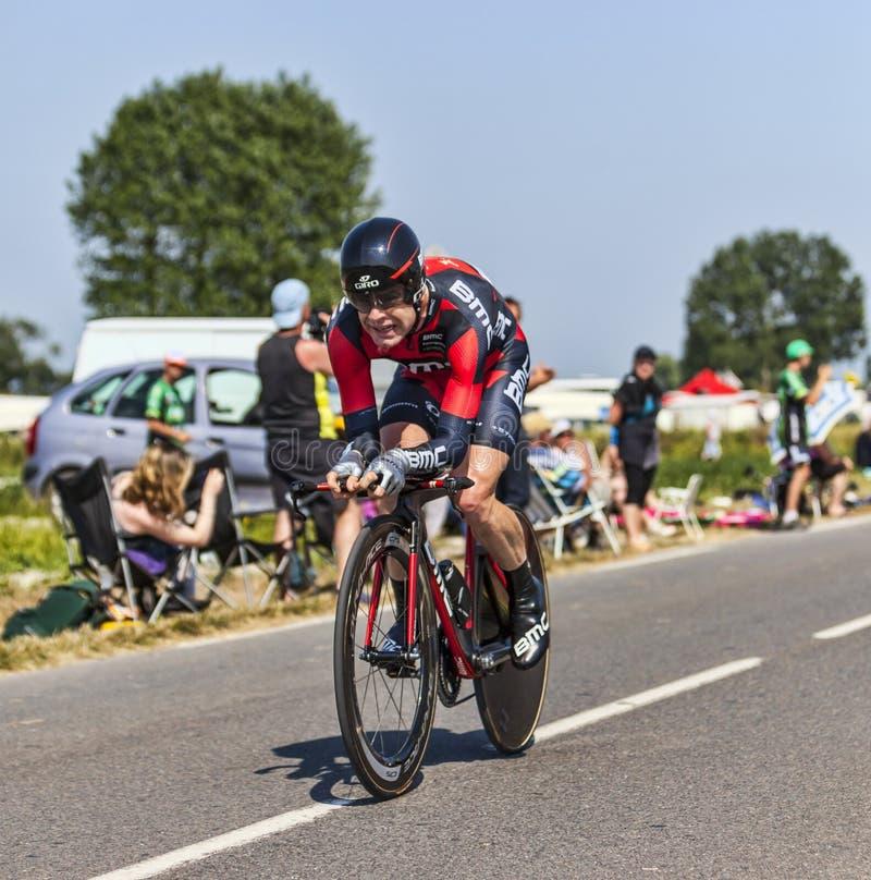 Der Radfahrer Cadel Evans lizenzfreie stockfotos