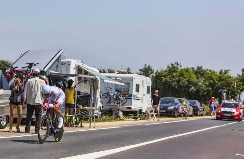 Der Radfahrer Gatis Smukulis lizenzfreie stockfotografie