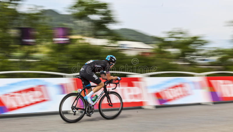Der Radfahrer Geraint Howell Thomas stockfotos