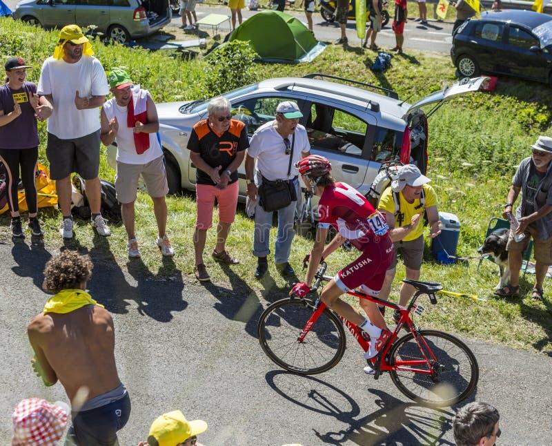 Der Radfahrer Ilnur Zakarin - Tour de France 2016 lizenzfreie stockfotos