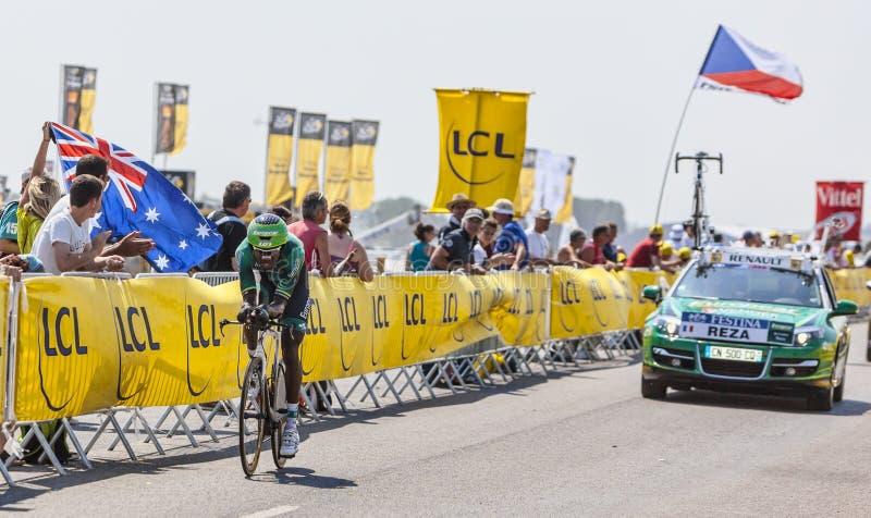 Der Radfahrer Kevin Reza lizenzfreies stockfoto