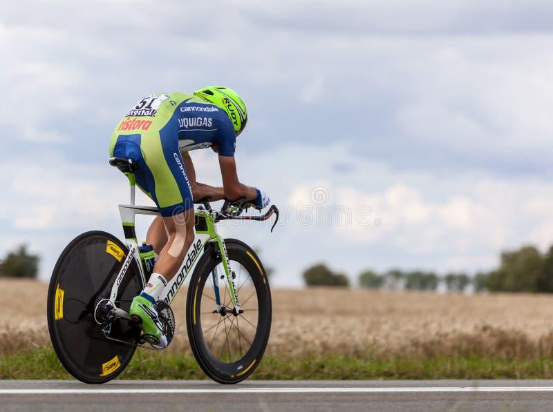 Der Radfahrer Nibali Vincenzo lizenzfreie stockfotografie