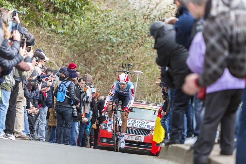 Der Radfahrer Tony Gallopin - Paris-nettes 2016 lizenzfreie stockbilder