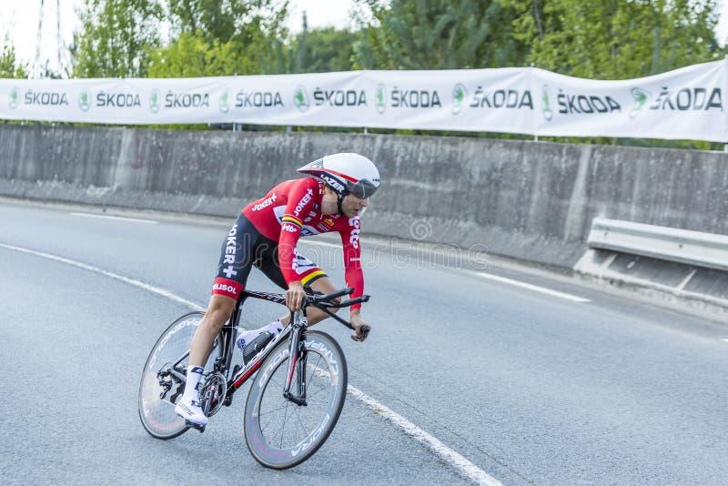 Der Radfahrer Tony Gallopin - Tour de France 2014 stockfotos