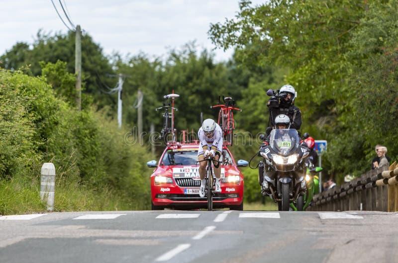 Der Radfahrer Tony Martin - Criterium du Dauphine 2017 lizenzfreies stockbild