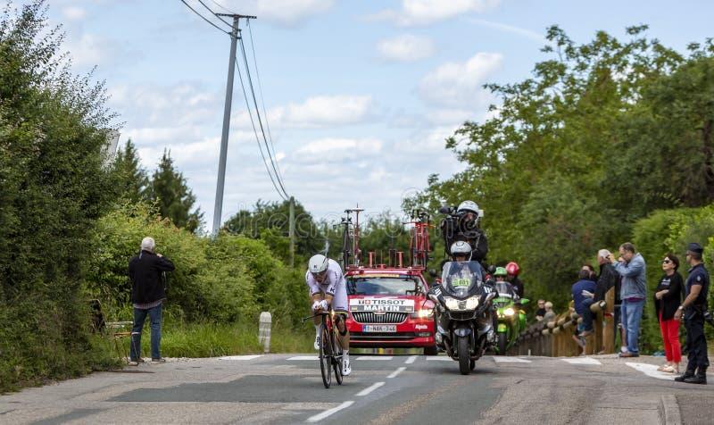 Der Radfahrer Tony Martin - Criterium du Dauphine 2017 stockbilder