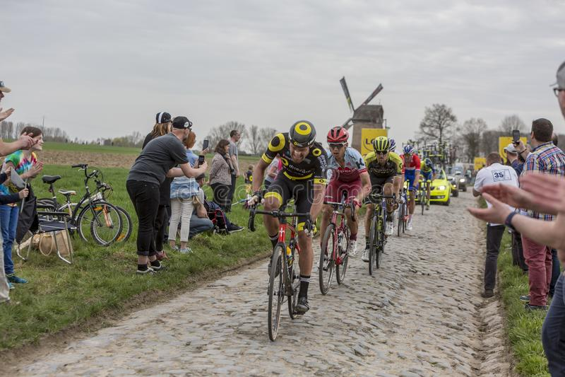 Der Radfahrer Tony Martin - Paris-Roubaix 2018 lizenzfreie stockfotos