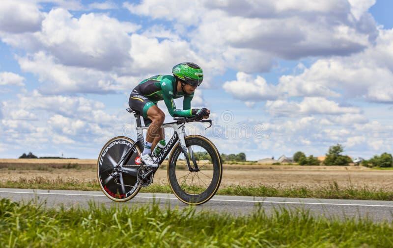 Der Radfahrer Yukiya Arashiro stockfotos