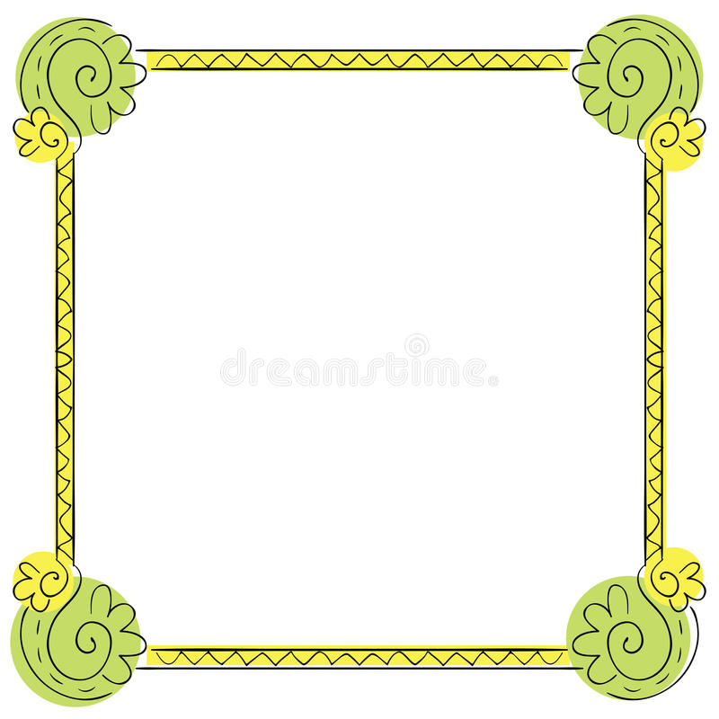 Der Rahmen der Vektorkinder auf weißem Hintergrund vektor abbildung