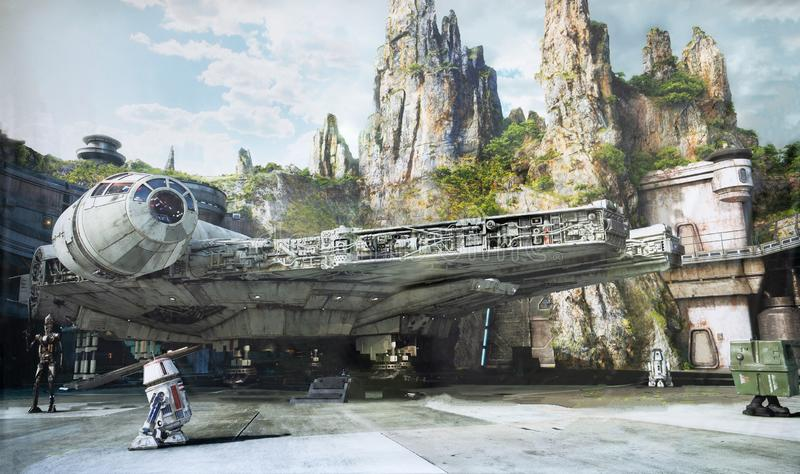 Der Rand der Galaxie, Disney World, Hollywood-Studios stockfoto