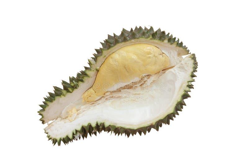 Der reife Durian ist das populärste und König der Frucht in Thailand lokalisierte auf weißem Hintergrund stockbild