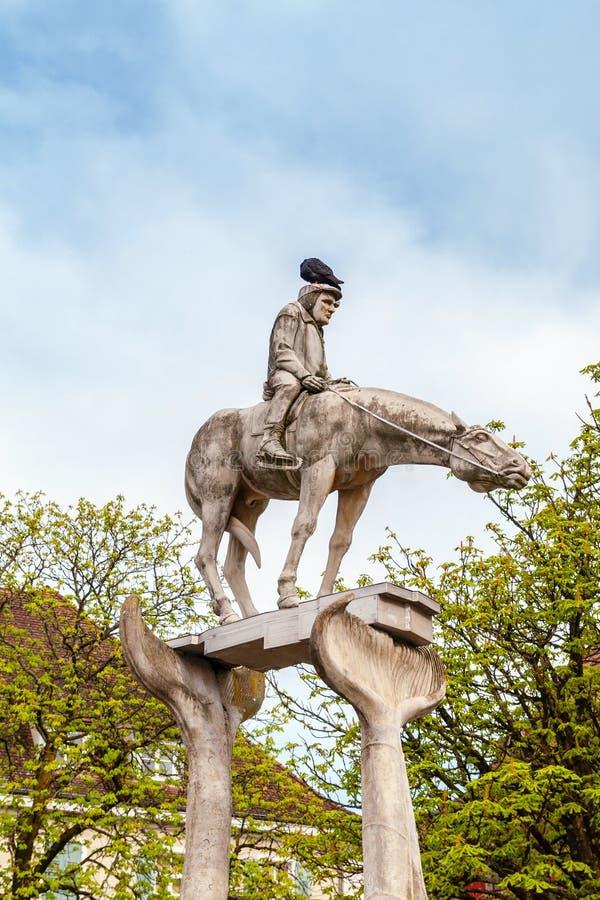 Der Reiter und das Bodensee stockfotografie