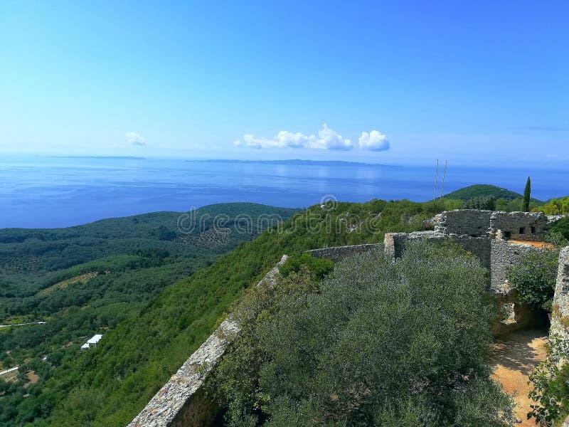 Der Rest von Ali Pashas Festung lizenzfreies stockbild