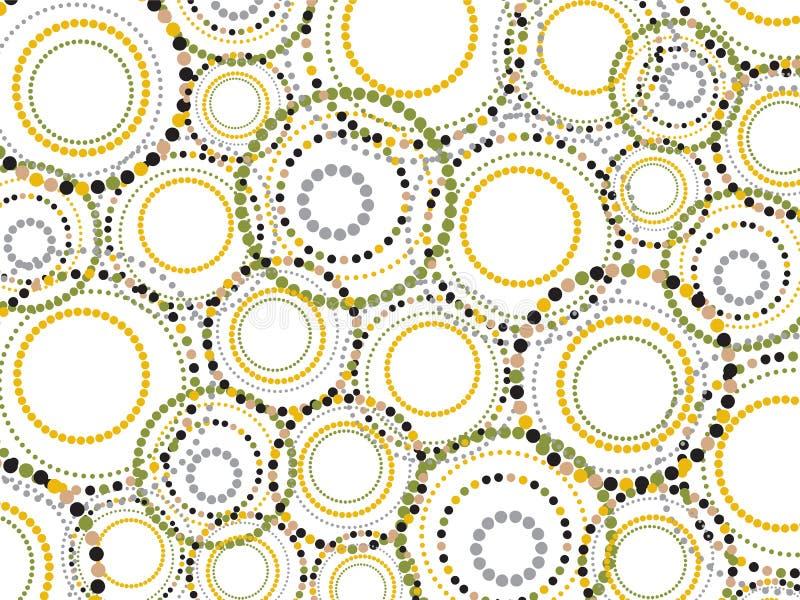Der Retro- punktierte Spaß kreist Muster ein lizenzfreie abbildung