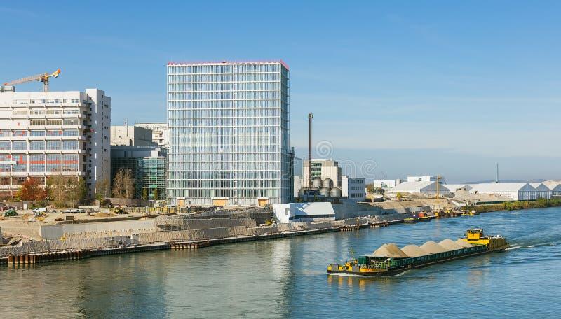 Der Rhein in Basel, die Schweiz lizenzfreie stockfotos