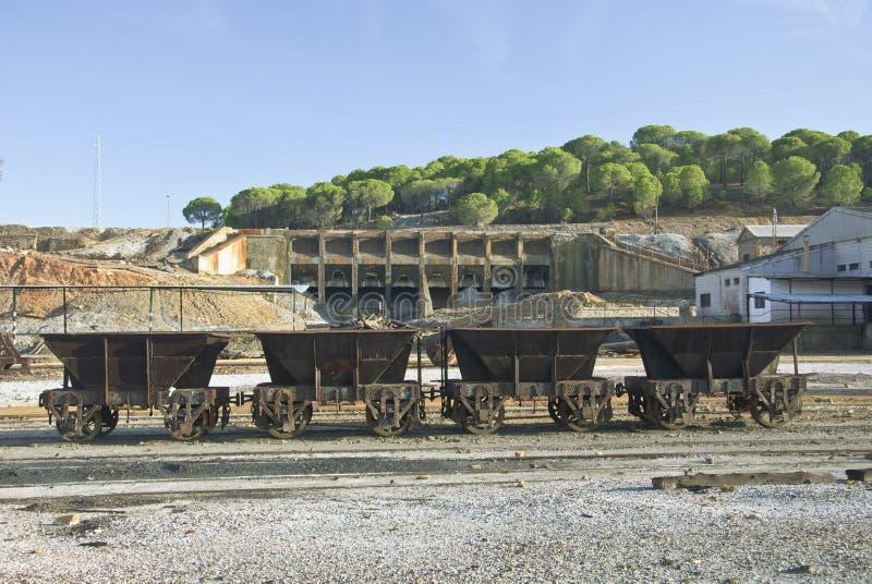 Der Riotinto Bergbaubereich lizenzfreies stockfoto