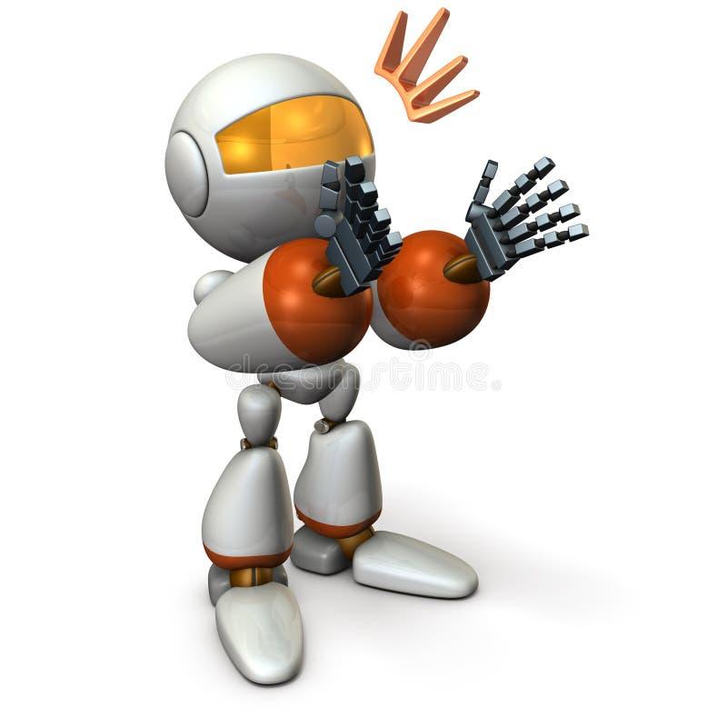Der Roboter applaudiert und Komplimente Es scheint wie es verführt vektor abbildung