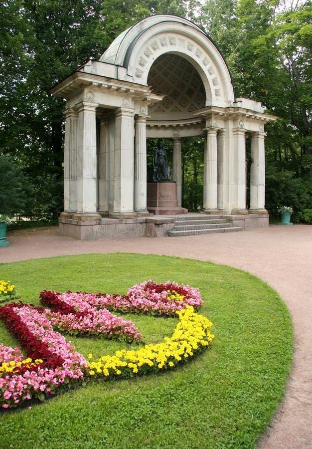 Der Rossi Pavillon in Pavlovsk-Park stockbild