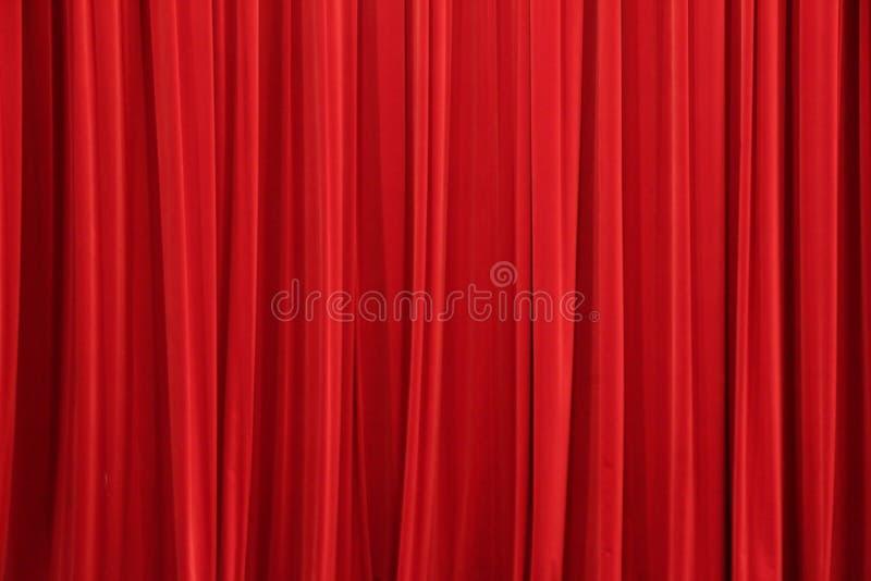 Der rote Vorhang stockfotos
