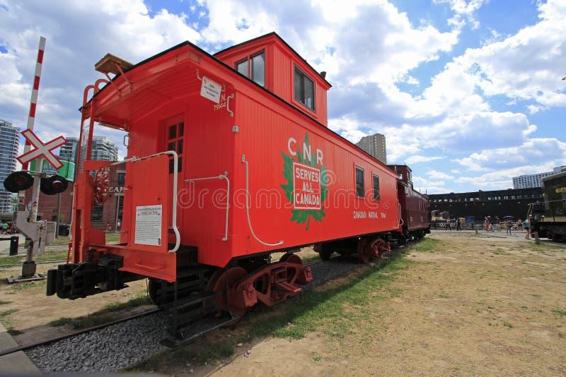 Der Roundhouse-Park in im Stadtzentrum gelegenem Toronto ist Haus des Toronto-Bahnmuseums und der Dampf-Pfeifen-Brauerei 7-25-201 stockbilder