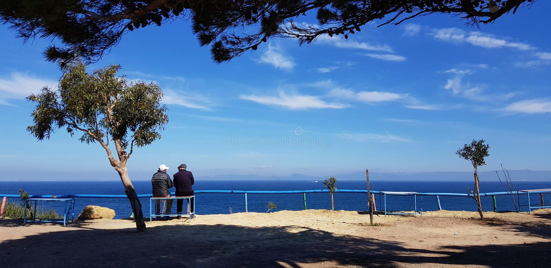 Der Ruhestand in Tanger lizenzfreies stockbild